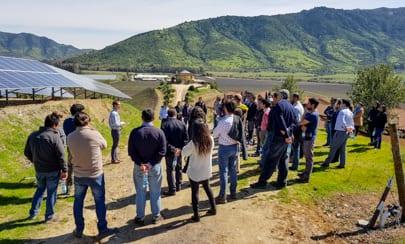 Exposición energía solar aplicada a la industria vinífera en Viña Santa Cruz - Solcor