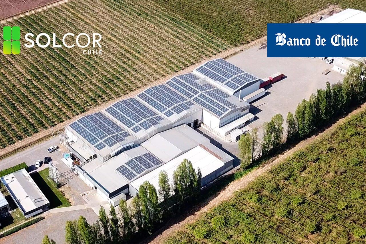Leasing paneles solares Banco de Chile - Solcor Chile
