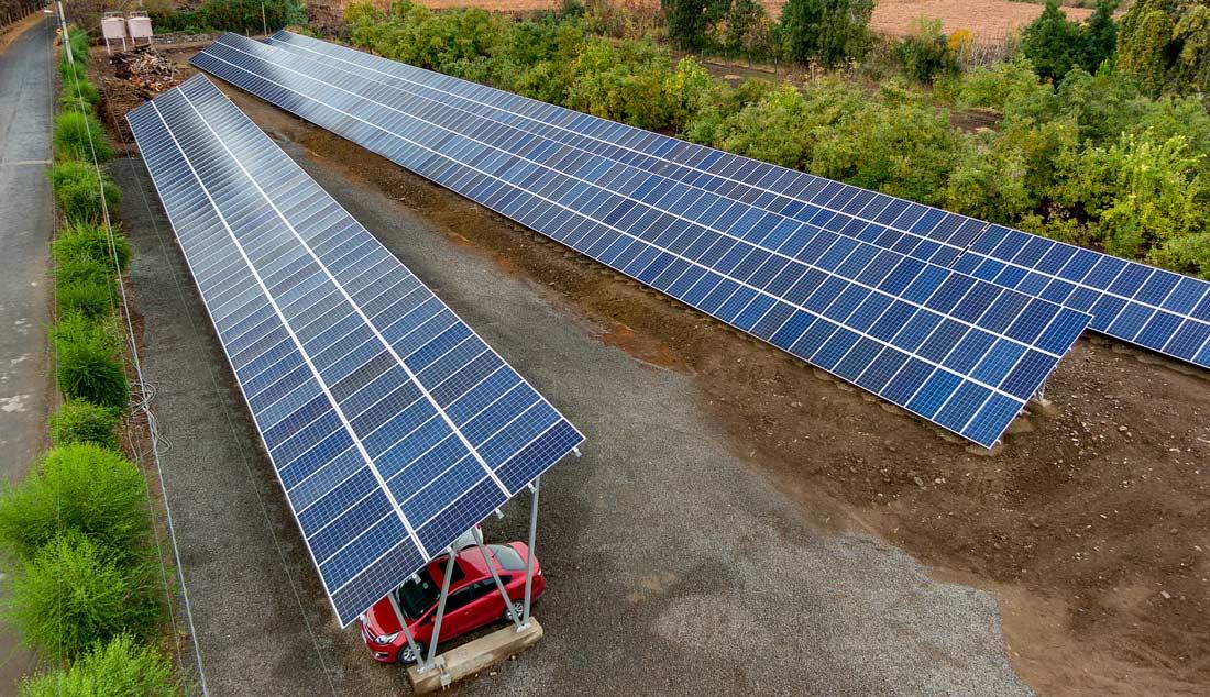 Paneles Solares Estacionamientos - Solcor Chile